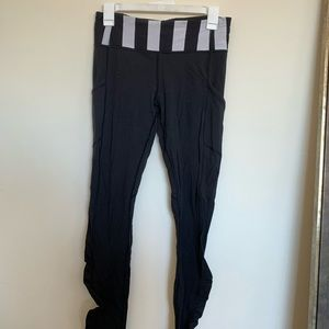 Retro Lululemon Striped Waistband Leggings Size 6